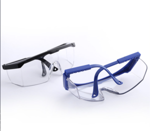 Blue-white telescopic leg  protection glasses (1)